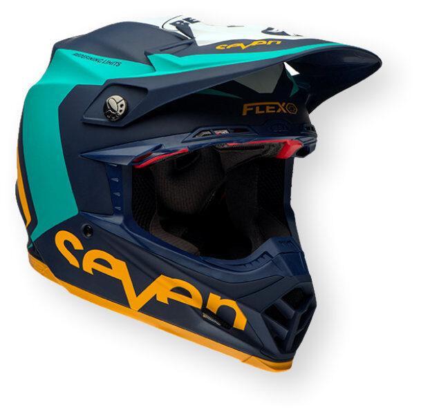 Bell Moto-9 Flex Seven Helmet Blue / Orange
