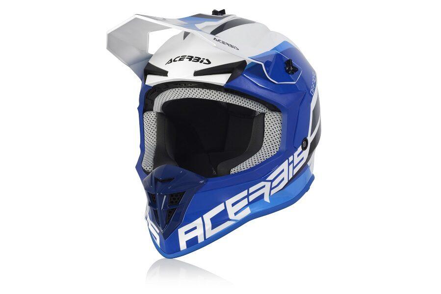 Acerbis LINEAR HELMETS - WHITE/BLUE