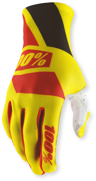 100% Celium Glove Yellow/Red